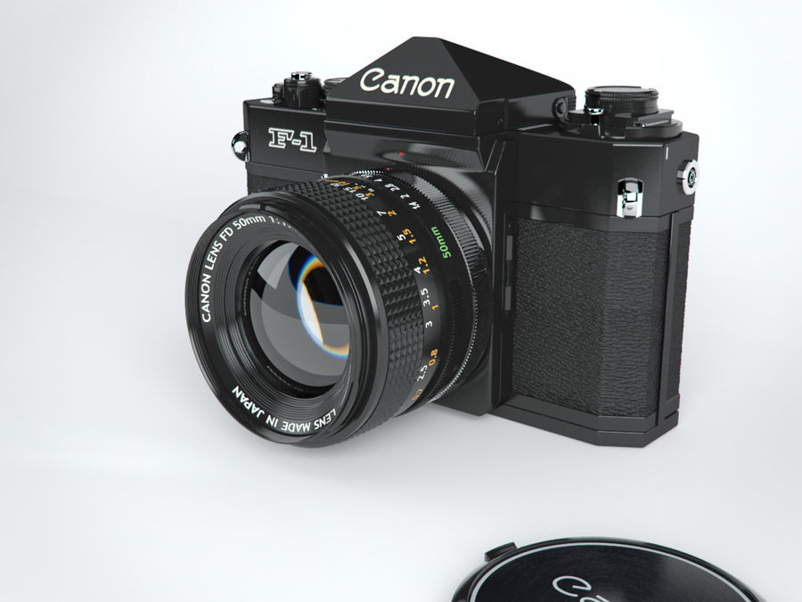 Canon F1 Spiegelreflexkamera royalty-free 3d model - Preview no. 3