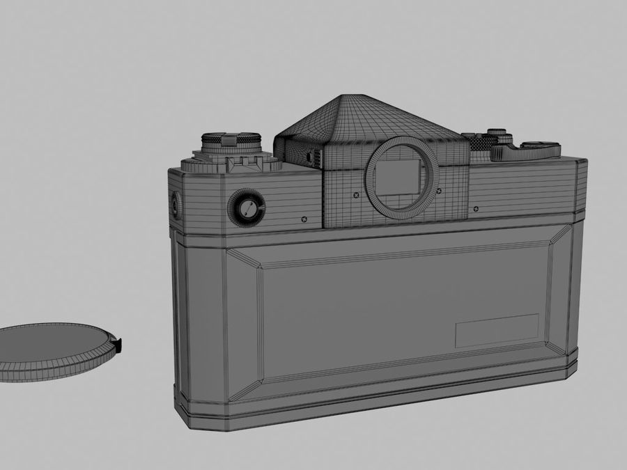 Canon F1 Spiegelreflexkamera royalty-free 3d model - Preview no. 9