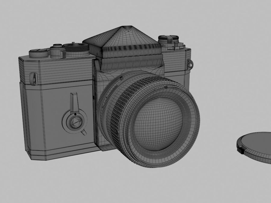 Canon F1 Spiegelreflexkamera royalty-free 3d model - Preview no. 8