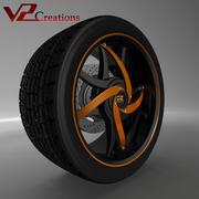 OZ车圈 3d model