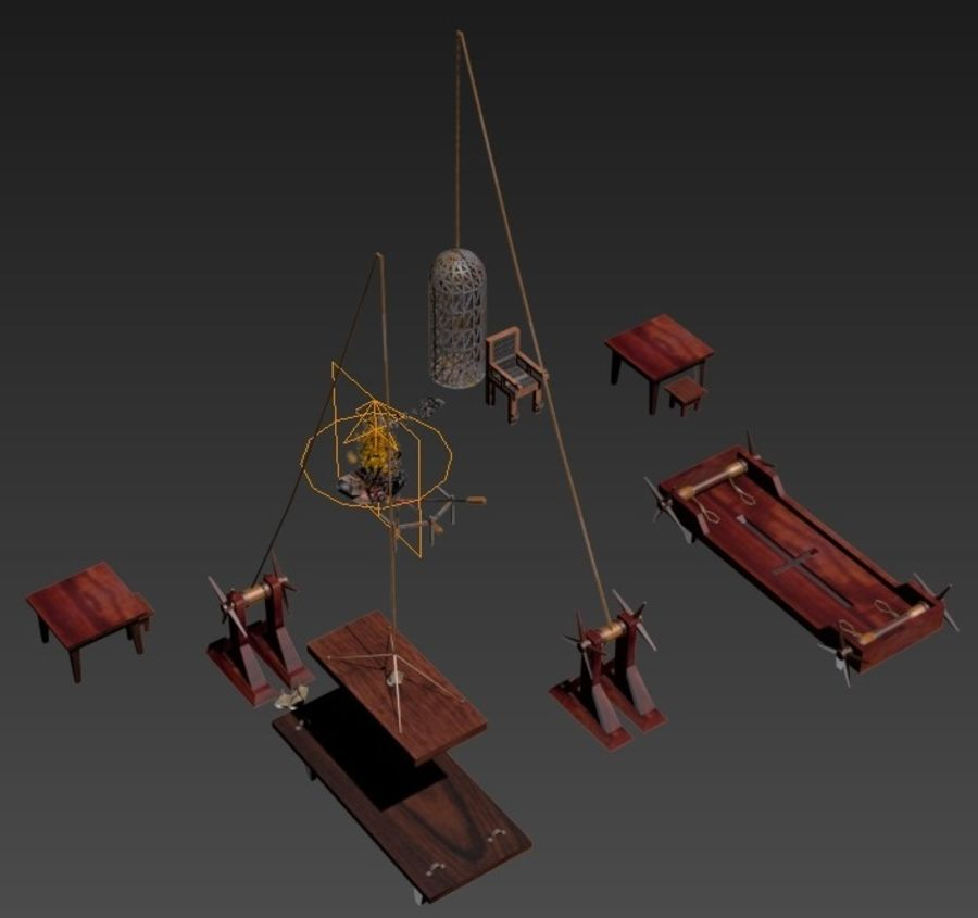 Torture Chamber royalty-free 3d model - Preview no. 4