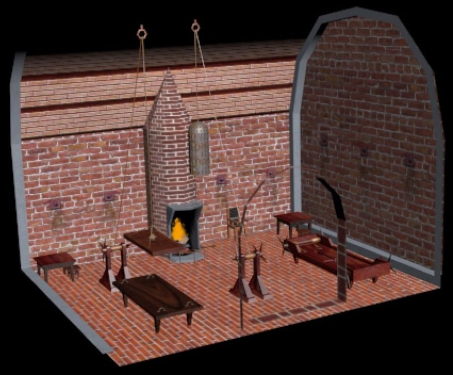 Torture Chamber royalty-free 3d model - Preview no. 3