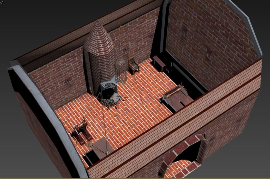 Torture Chamber royalty-free 3d model - Preview no. 2