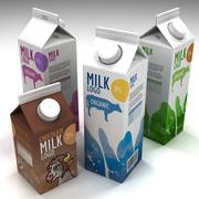Milk box 3d model