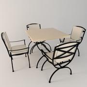 Tafel stoelen tuin 3d model