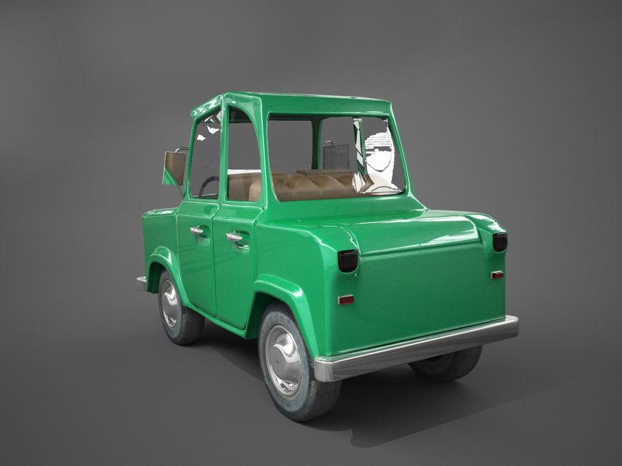 Carro de desenho animado royalty-free 3d model - Preview no. 5