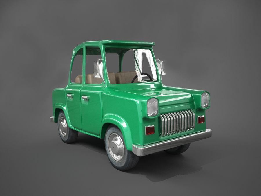 Tecknad bil royalty-free 3d model - Preview no. 4