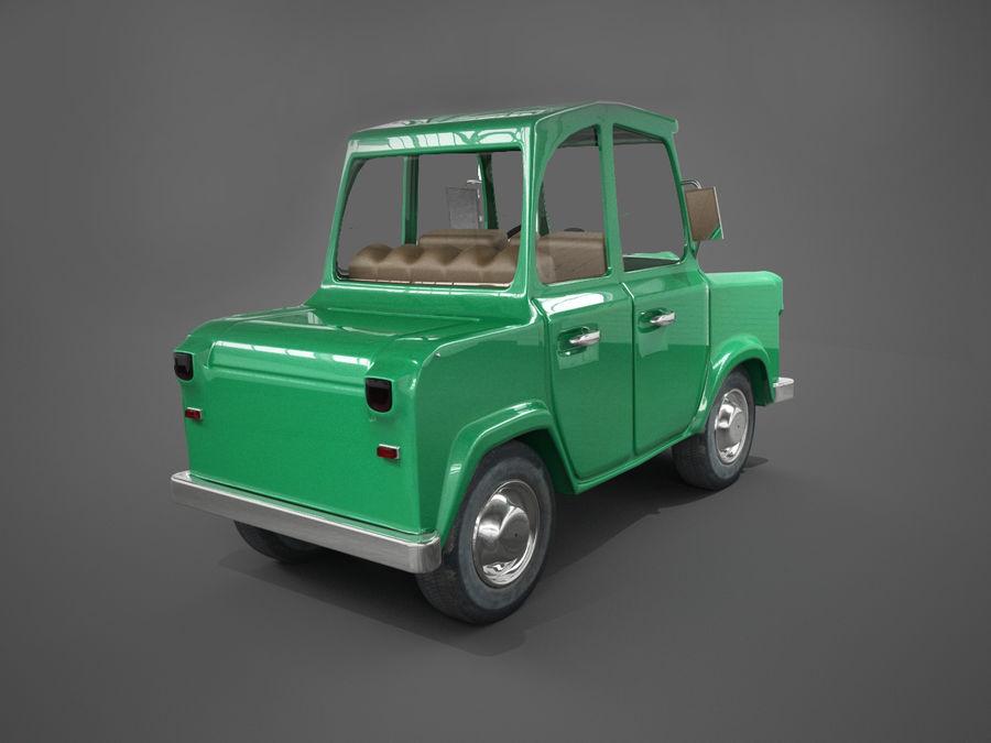 Tecknad bil royalty-free 3d model - Preview no. 2