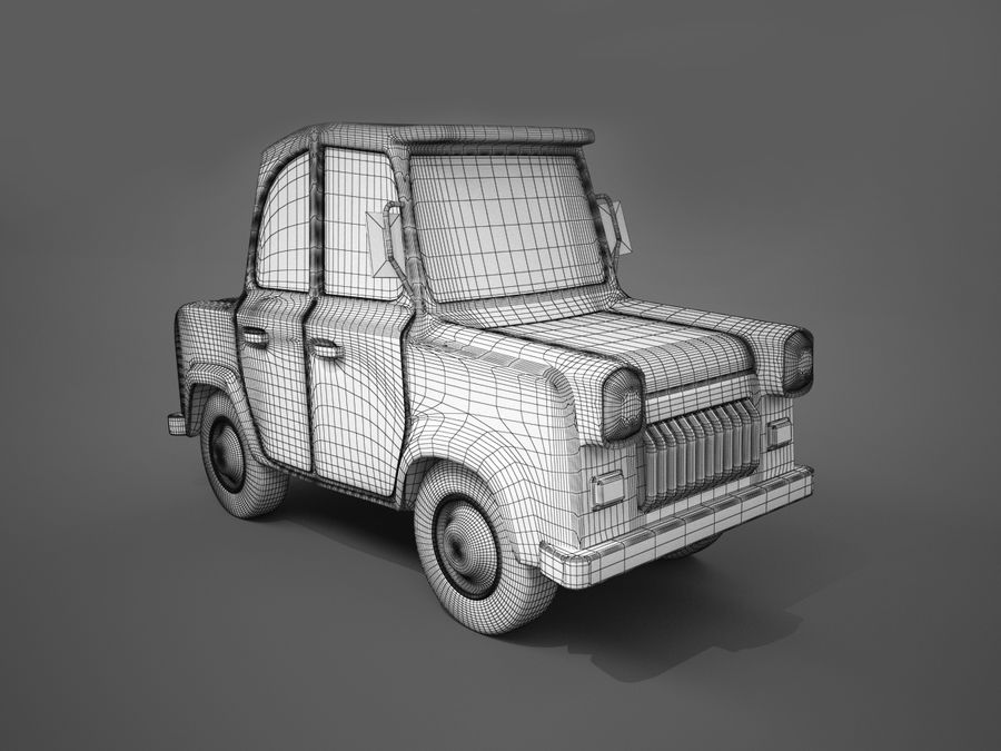 Мультяшный автомобиль royalty-free 3d model - Preview no. 3