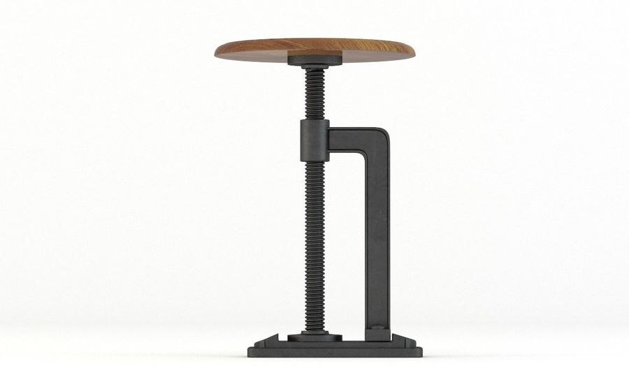 Andy Thornton Industrial Stool royalty-free 3d model - Preview no. 2
