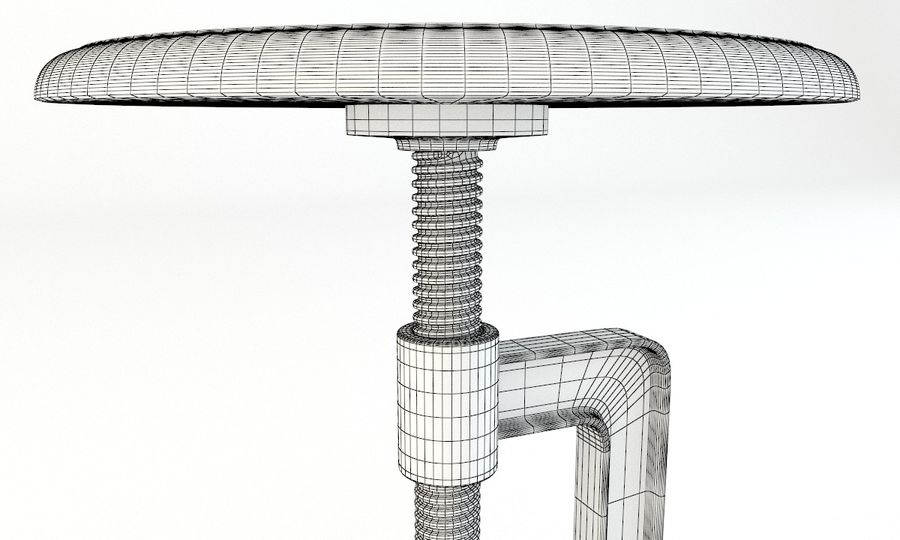 Andy Thornton Industrial Stool royalty-free 3d model - Preview no. 5