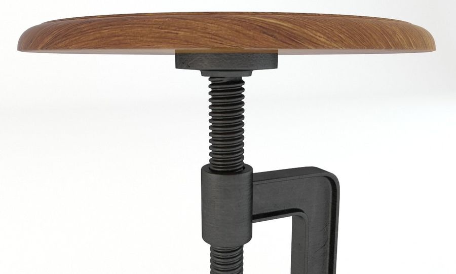 Andy Thornton Industrial Stool royalty-free 3d model - Preview no. 3