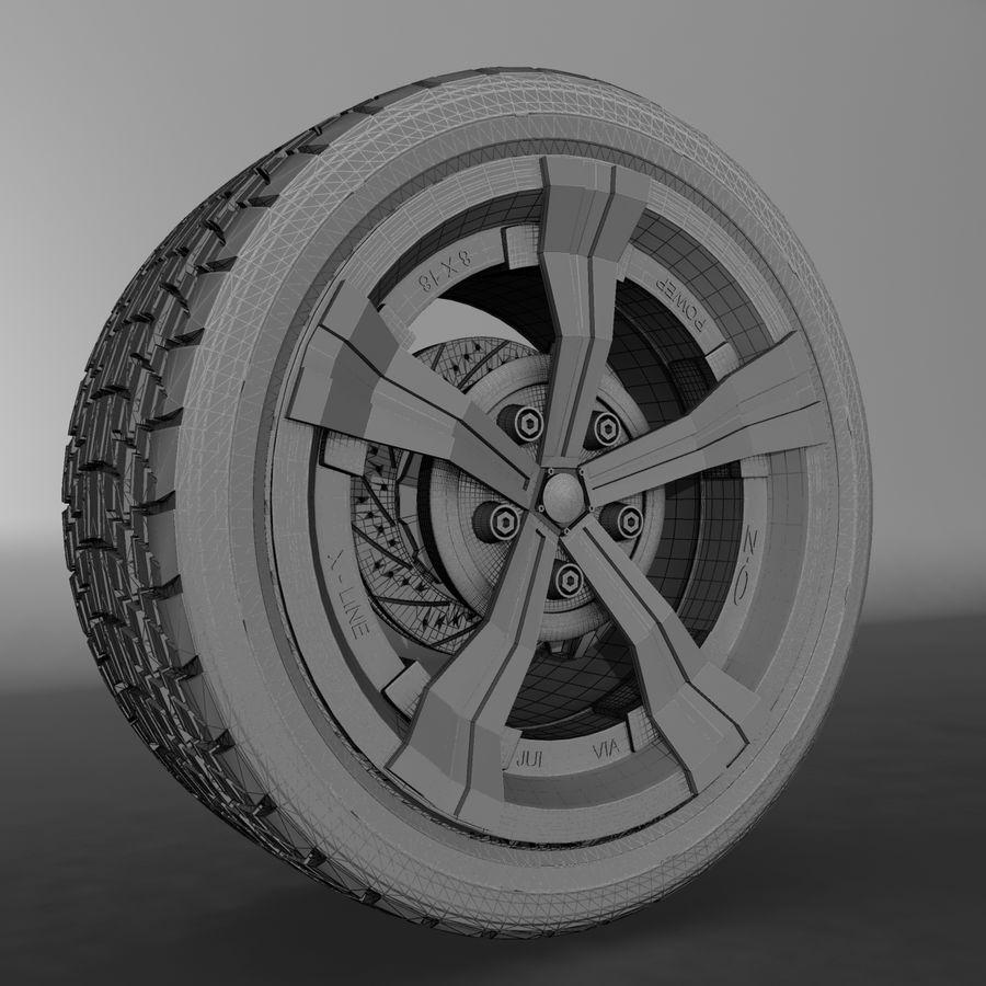 Car Rim OZ royalty-free 3d model - Preview no. 2