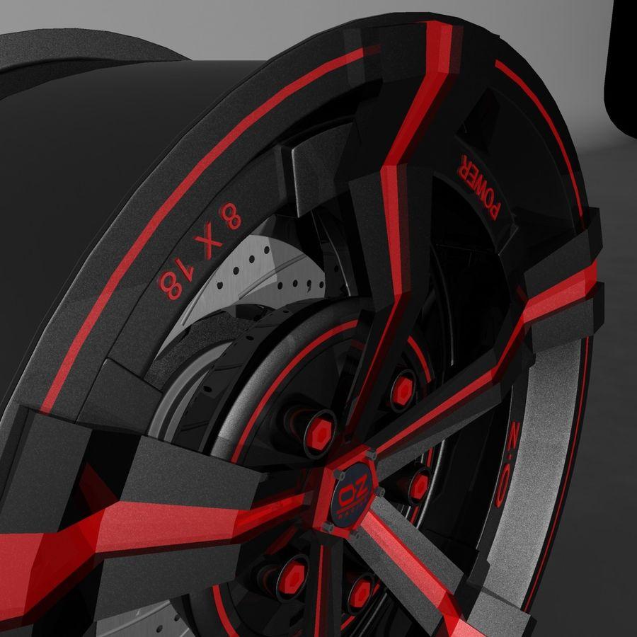 Car Rim OZ royalty-free 3d model - Preview no. 10