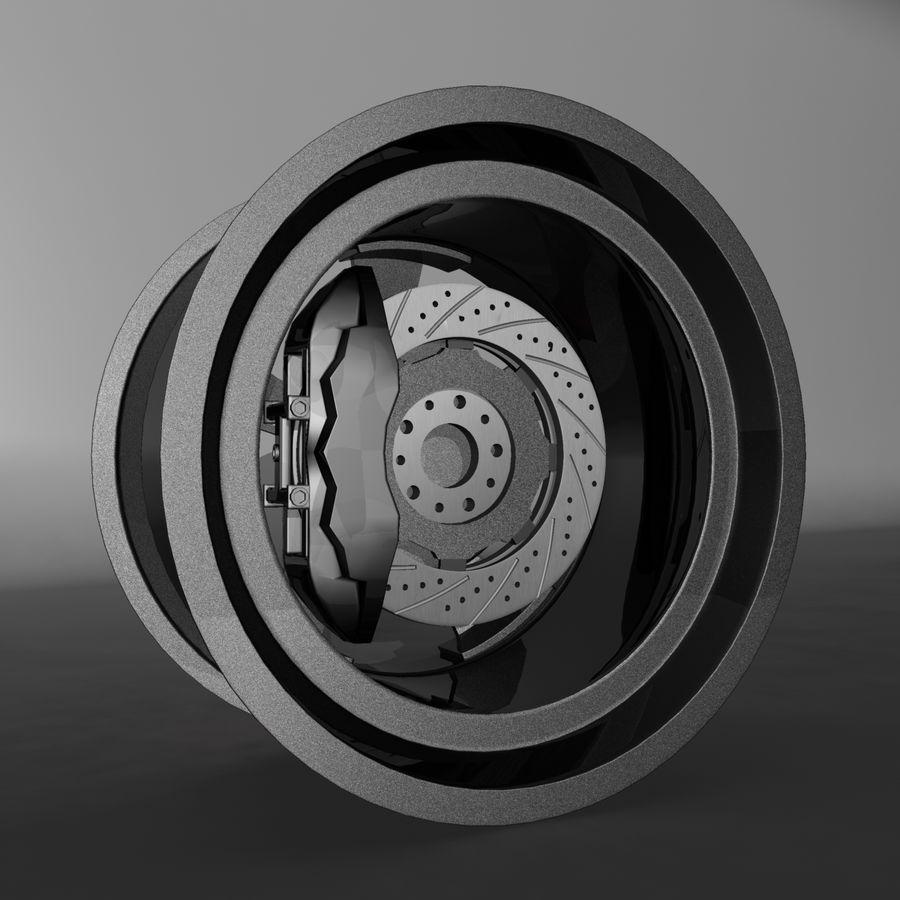 Car Rim OZ royalty-free 3d model - Preview no. 5