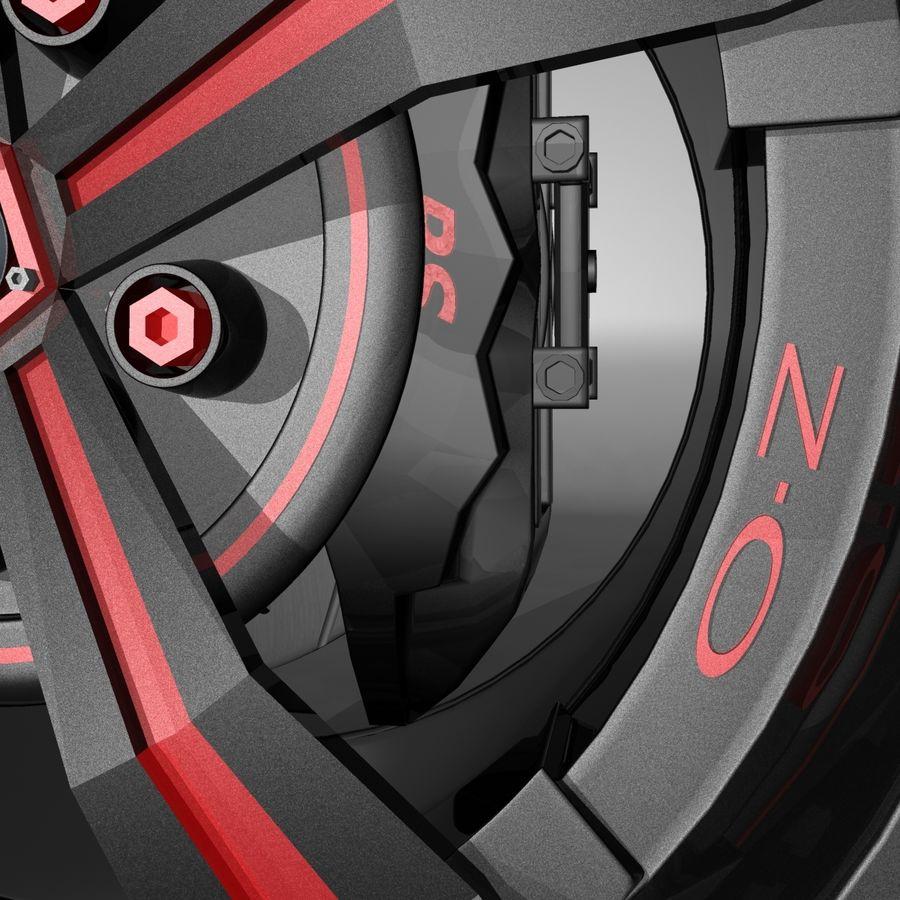 Car Rim OZ royalty-free 3d model - Preview no. 11