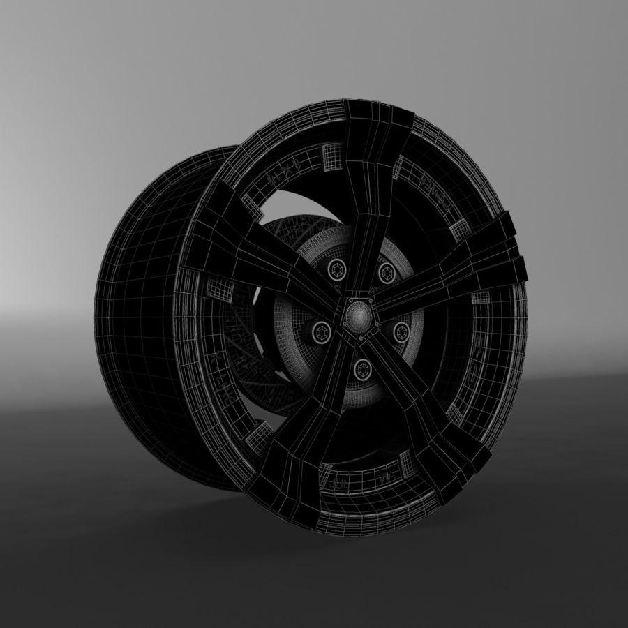 Car Rim OZ royalty-free 3d model - Preview no. 4