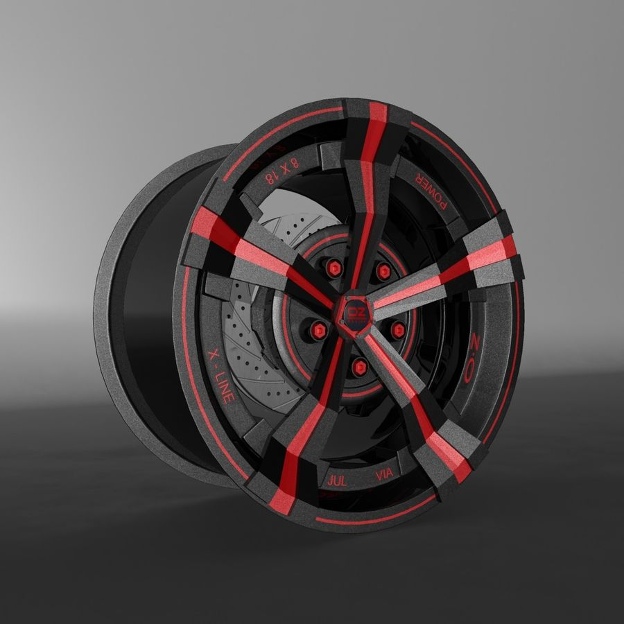 Car Rim OZ royalty-free 3d model - Preview no. 3
