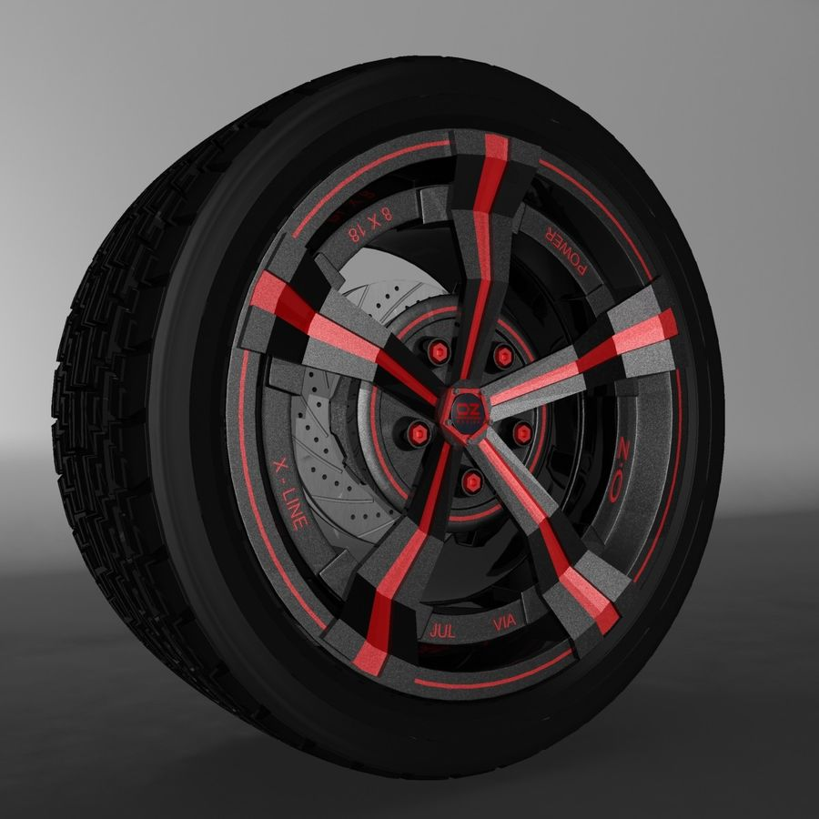 Car Rim OZ royalty-free 3d model - Preview no. 1