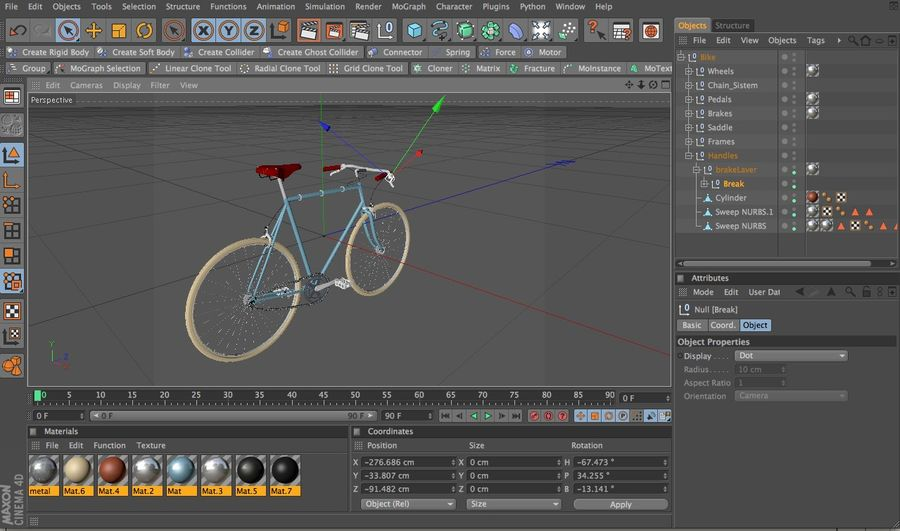 自転車 royalty-free 3d model - Preview no. 5