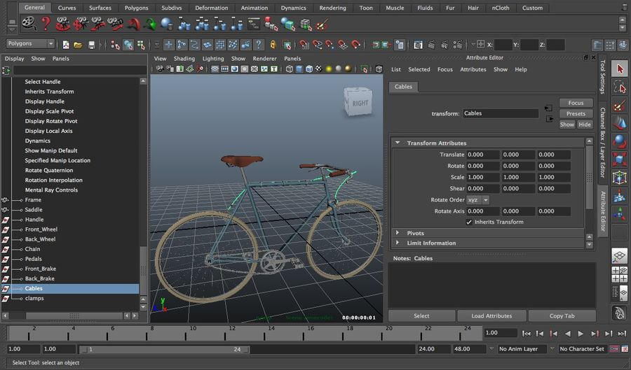 自転車 royalty-free 3d model - Preview no. 6