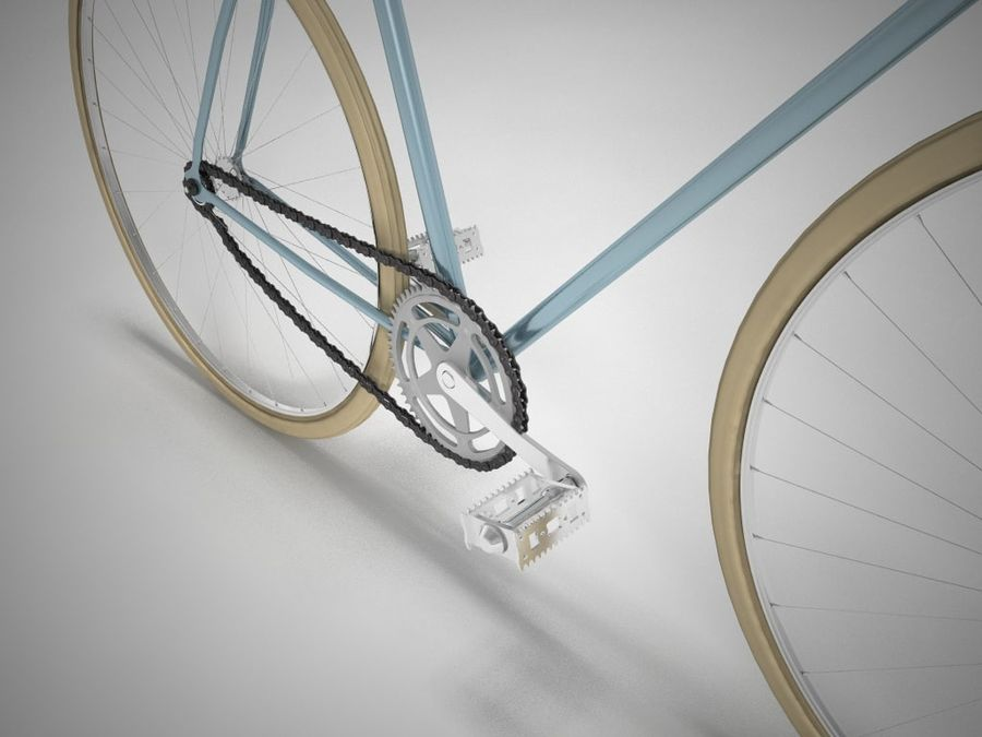 自転車 royalty-free 3d model - Preview no. 2