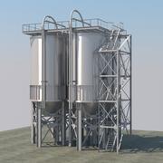 Zbiornik przemysłowy 3d model