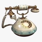 Weinlese-Telefon 3d model