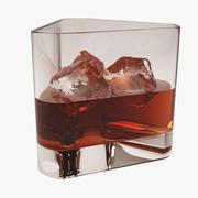 氷とウイスキーグラス 3d model