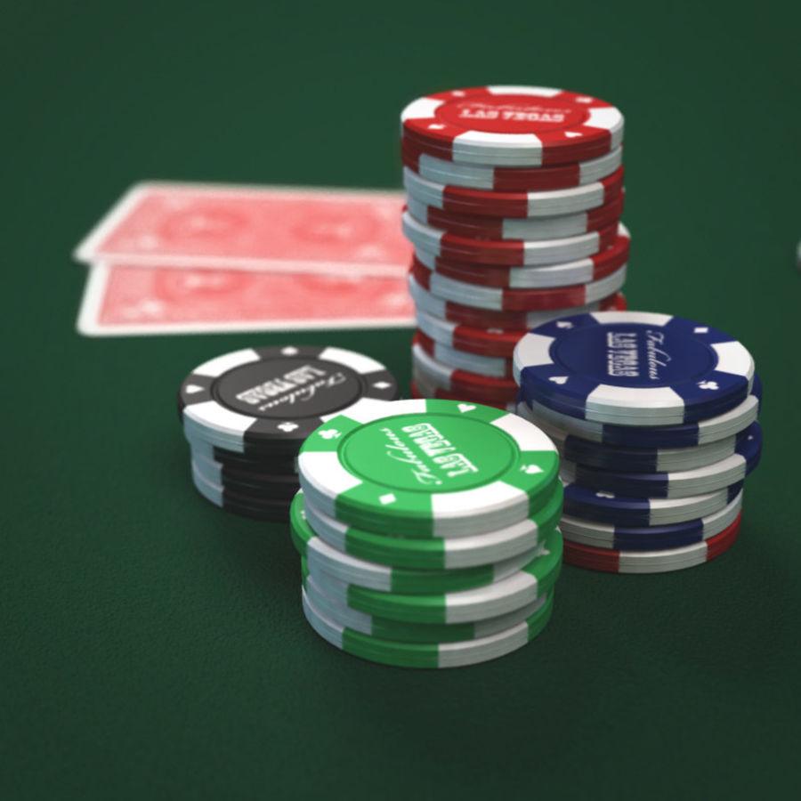 Graj w karty i karty royalty-free 3d model - Preview no. 6