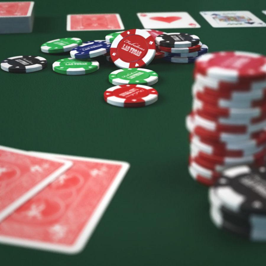 Graj w karty i karty royalty-free 3d model - Preview no. 8