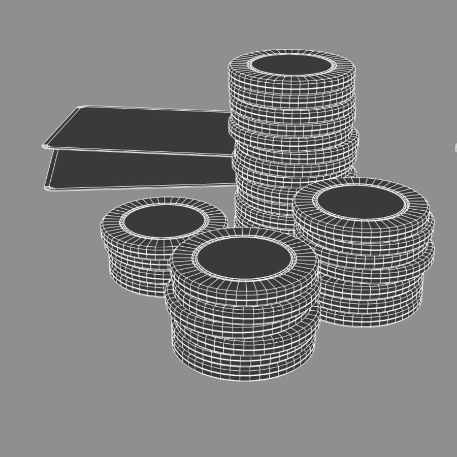 Graj w karty i karty royalty-free 3d model - Preview no. 7