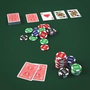 Graj w karty i karty 3d model