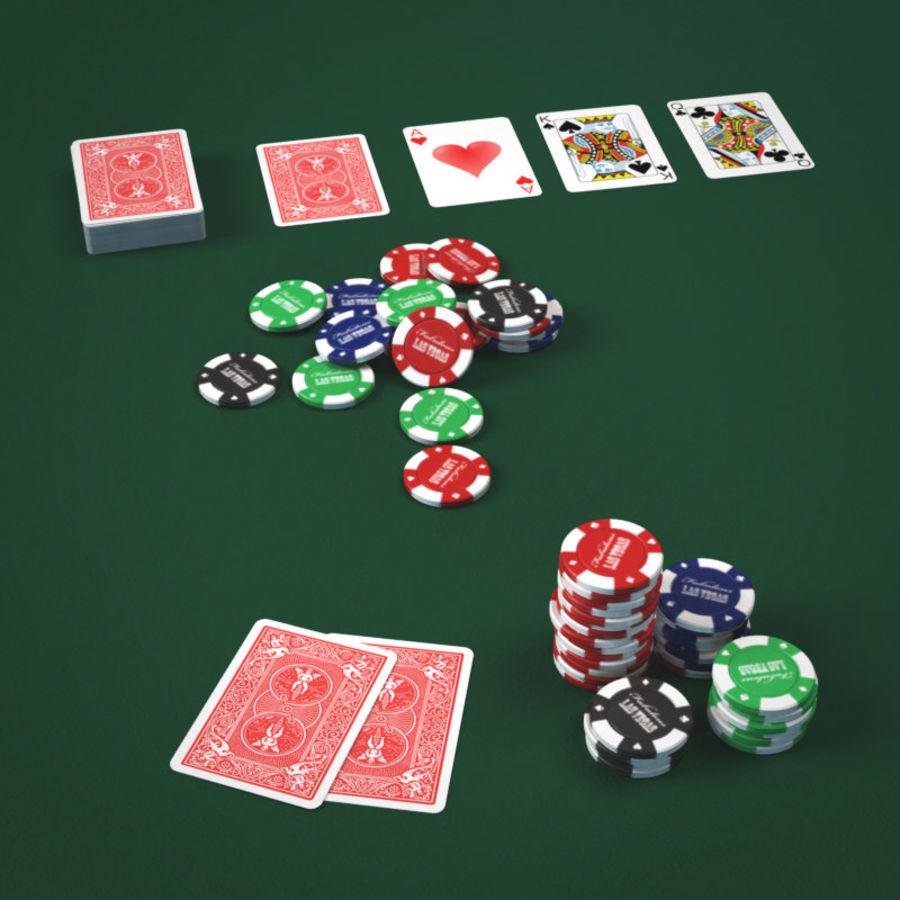 Graj w karty i karty royalty-free 3d model - Preview no. 1