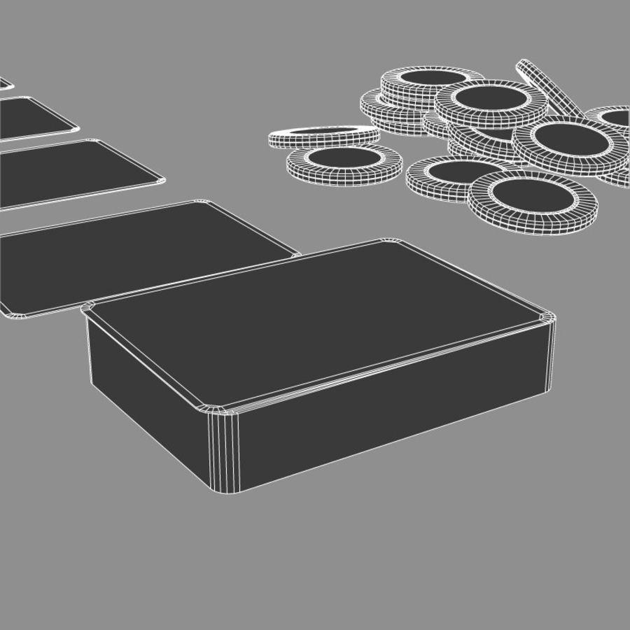 Graj w karty i karty royalty-free 3d model - Preview no. 11