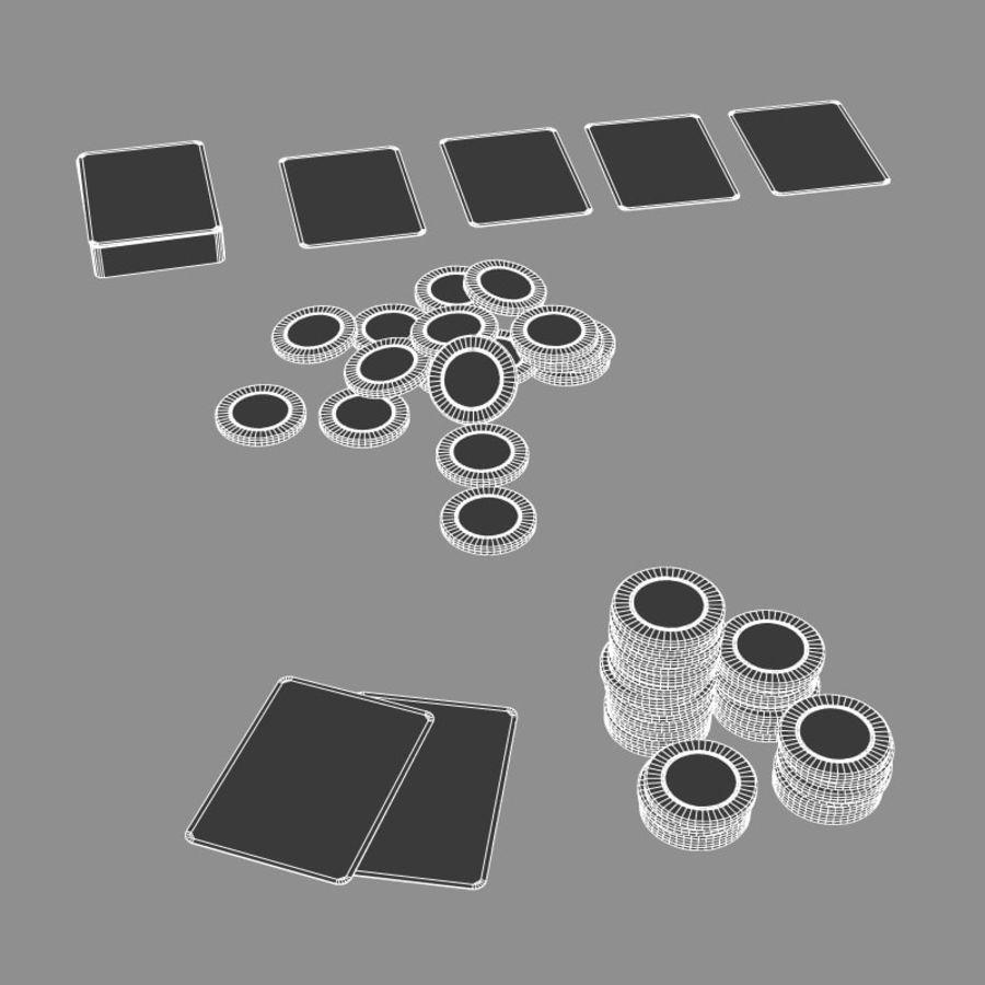 Graj w karty i karty royalty-free 3d model - Preview no. 3