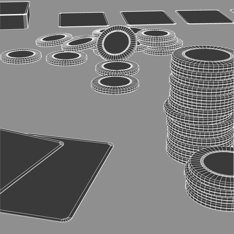 Graj w karty i karty royalty-free 3d model - Preview no. 9