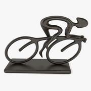 Bike Racer Statue 3d model