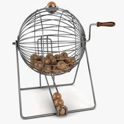 Vintage Wire Bingo Cage 3d model