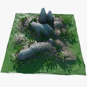 景观低聚 3d model