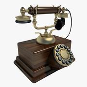 Retro Phone 02 3d model
