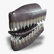 Creature Teeth & Tongue (Rigged) 3d model