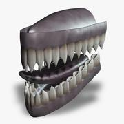 Creature Teeth & Tongue (Rigged) 3d model