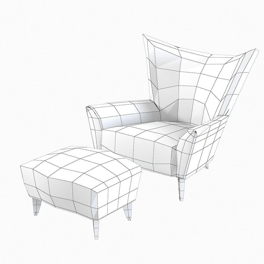 Matador fauteuil Helion Charcoal Wing stoel met voetenbank royalty-free 3d model - Preview no. 8