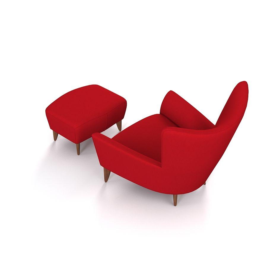 Matador fauteuil Helion Charcoal Wing stoel met voetenbank royalty-free 3d model - Preview no. 4