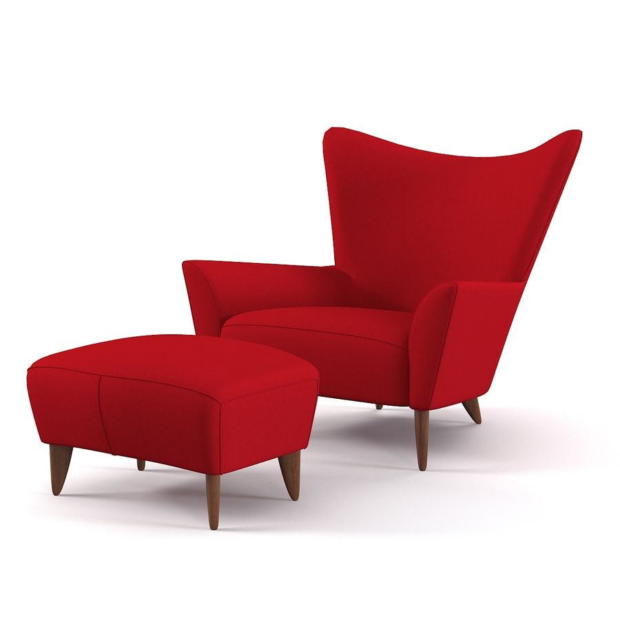 Matador fauteuil Helion Charcoal Wing stoel met voetenbank royalty-free 3d model - Preview no. 9