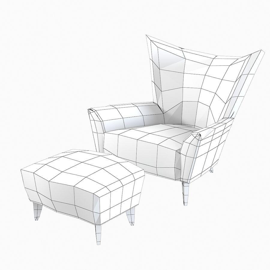 Matador fauteuil Helion Charcoal Wing stoel met voetenbank royalty-free 3d model - Preview no. 7