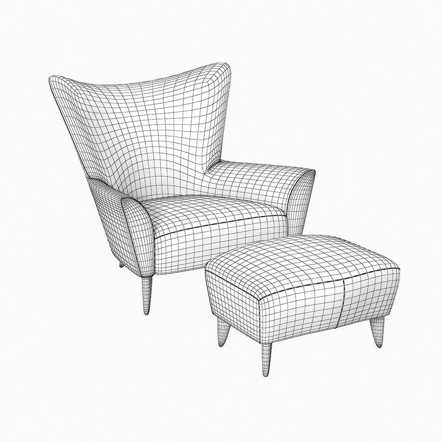 Matador fauteuil Helion Charcoal Wing stoel met voetenbank royalty-free 3d model - Preview no. 5