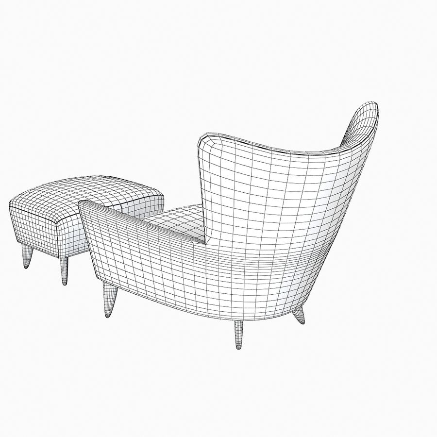 Matador fauteuil Helion Charcoal Wing stoel met voetenbank royalty-free 3d model - Preview no. 6