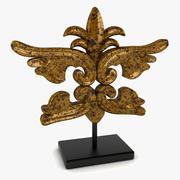 Barok Heykel Dekoru 3d model
